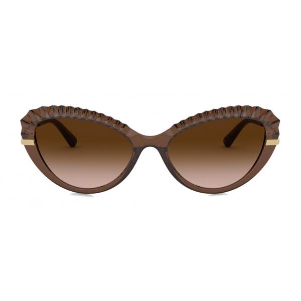 Dolce & Gabbana - Occhiale da Sole Plisse - Marrone - Dolce & Gabbana Eyewear