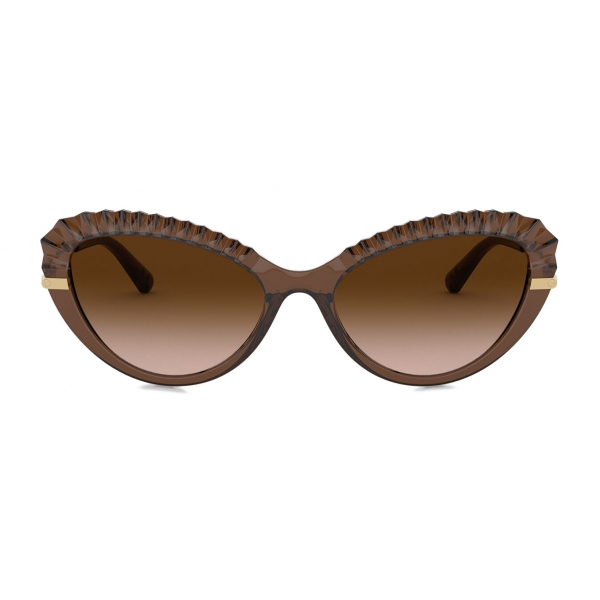 Dolce & Gabbana - Plisse Sunglasses - Brown - Dolce & Gabbana Eyewear