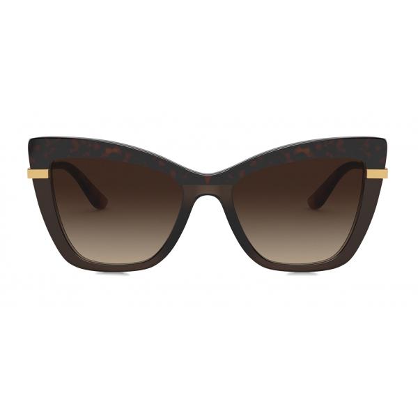 Dolce & Gabbana - Half Print Sunglasses - Havana - Dolce & Gabbana Eyewear