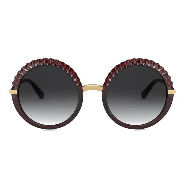 Dolce & Gabbana - Occhiale da Sole Plisse - Bordeaux - Dolce & Gabbana Eyewear