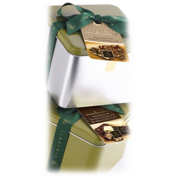 Vincente Delicacies - Crunchy Nougat Pieces Assortment - Matador Metallic Box