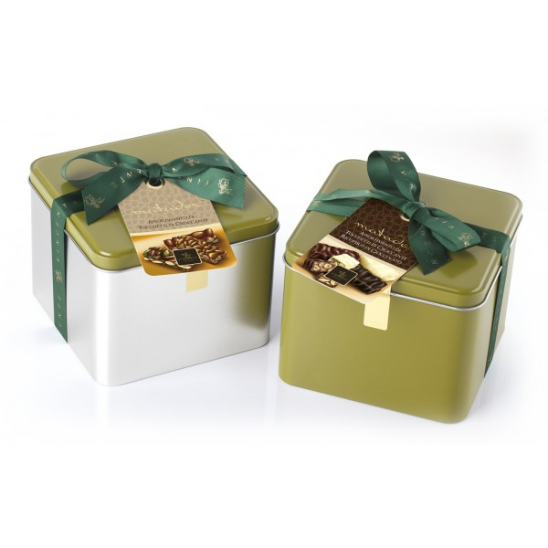 Vincente Delicacies - Crunchy Nougat Pieces Assortment Covered with Chocolate Assortment - Matador Metallic Box