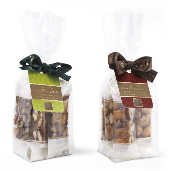 Vincente Delicacies - Tocchetti di Croccante alla Mandorla di Sicilia - Matador - Bustina Fiocco