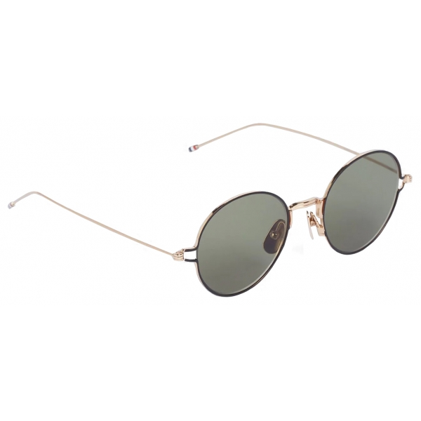 Thom Browne - Gold Round Sunglasses - Thom Browne Eyewear