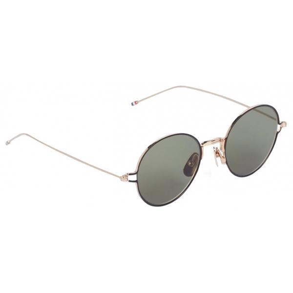 Thom Browne - Occhiali da Sole Rotondi Oro - Thom Browne Eyewear