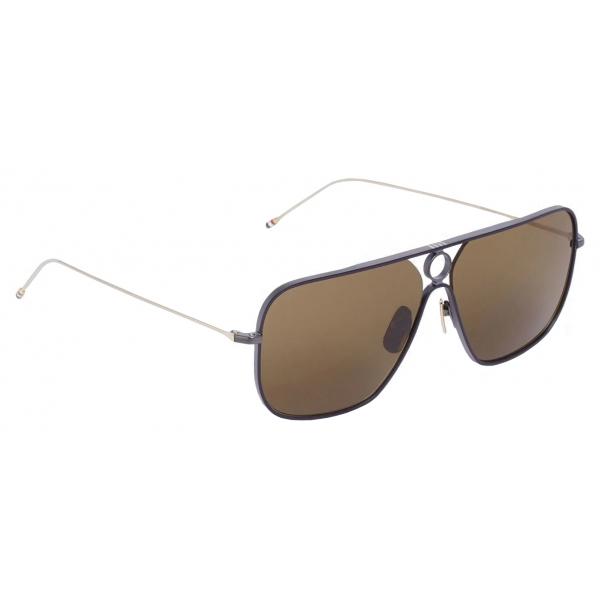 Thom Browne - Occhiali da Sole Rettangolari Nero - Thom Browne Eyewear