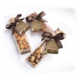 Vincente Delicacies - Tronchetto di Croccante alla Mandorla Sicilia - Eros - Incarto Opal Fiocco
