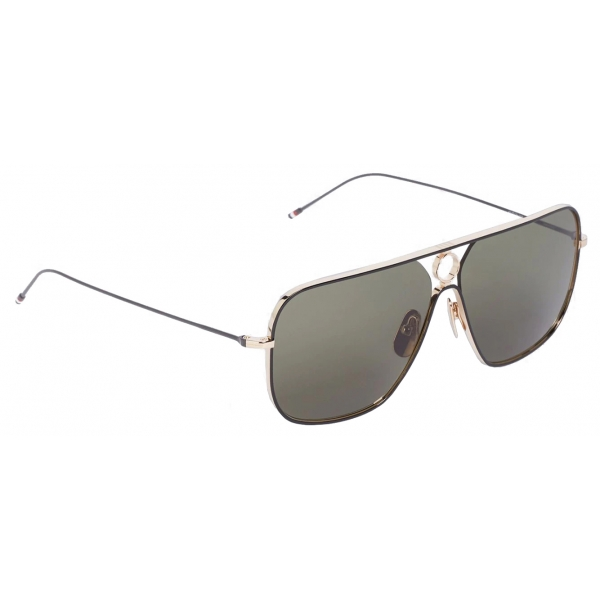 Thom Browne - Gold Rectangular Sunglasses - Thom Browne Eyewear