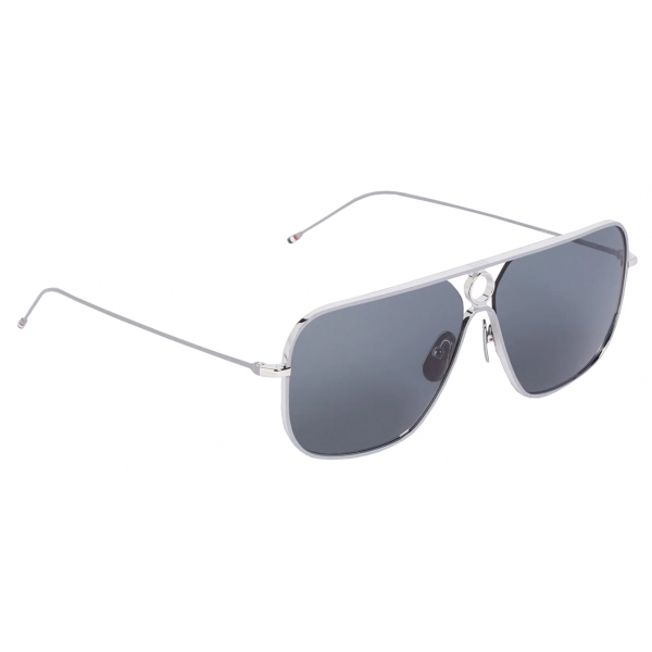 Thom Browne - Silver Rectangular Sunglasses - Thom Browne Eyewear