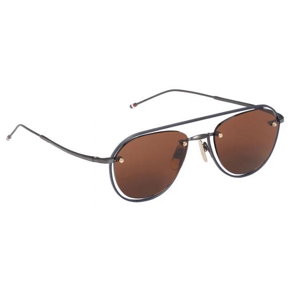 Thom Browne - Occhiali da Sole Aviatore Marroni - Thom Browne Eyewear