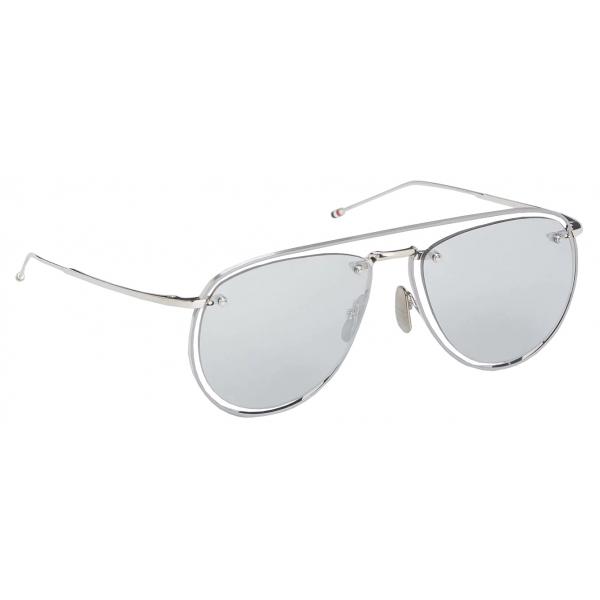 Thom Browne - Occhiali da Sole Aviatore Argento - Thom Browne Eyewear
