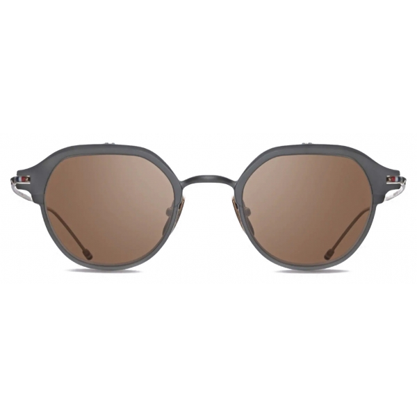 Thom Browne - Black Iron & White Gold Sunglasses - Thom Browne Eyewear