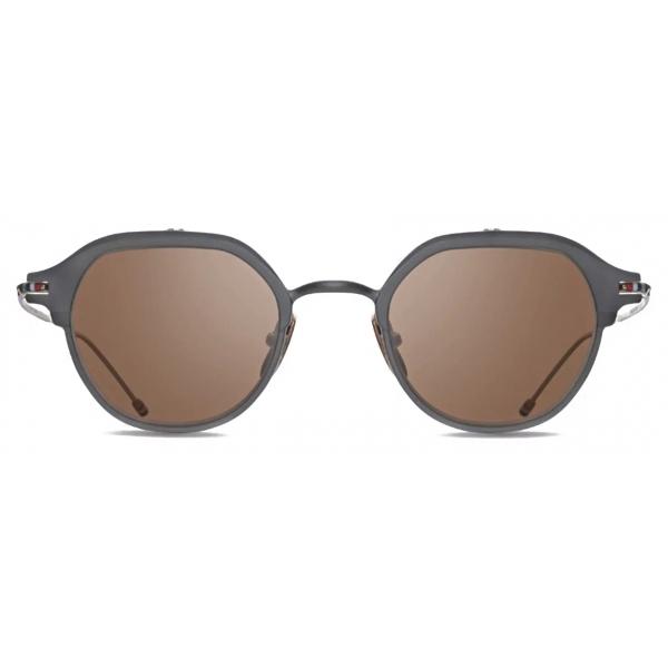 Thom Browne - Occhiali da Sole in Ferro Nero e Oro Bianco - Thom Browne Eyewear