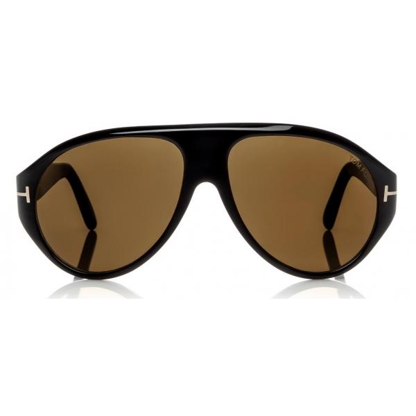 Tom Ford Tom N 8 Sunglasses Real Horn Frame Sunglasses Black Horn Ft0490 P Sunglasses Tom Ford Eyewear Avvenice