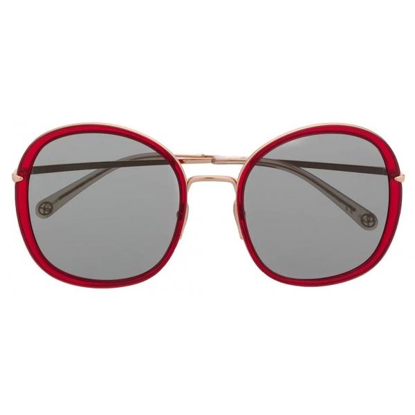 Pomellato - Round Frame Sunglasses - Red Gold - Pomellato Eyewear