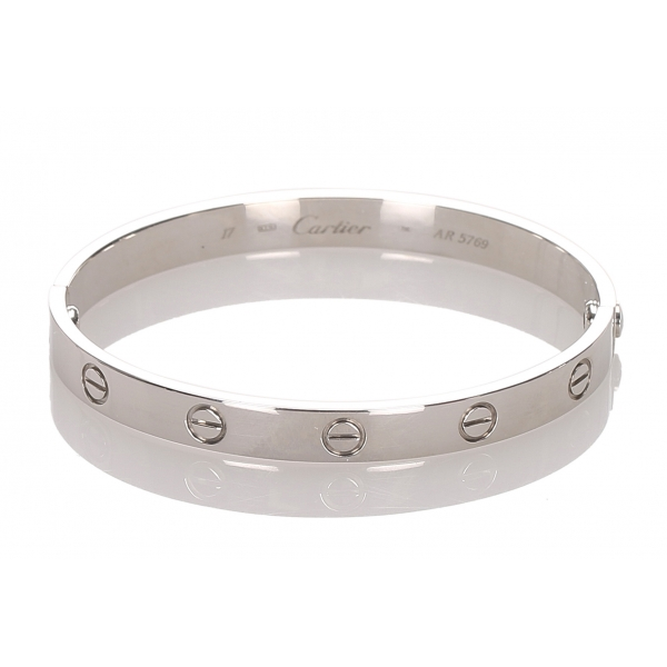 Cartier Vintage - Love Bracelet - Cartier Bracelet in White Gold 18K - Luxury High Quality