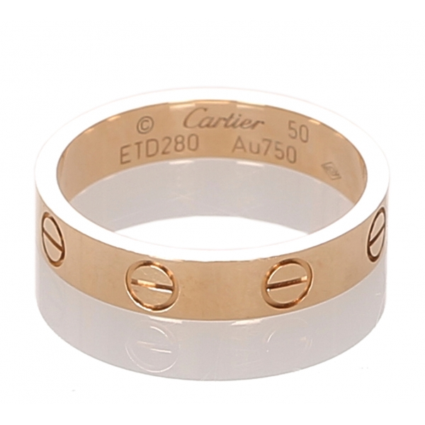 Cartier Vintage - 18K Love Ring - Cartier Ring in Gold 18K - Luxury High Quality
