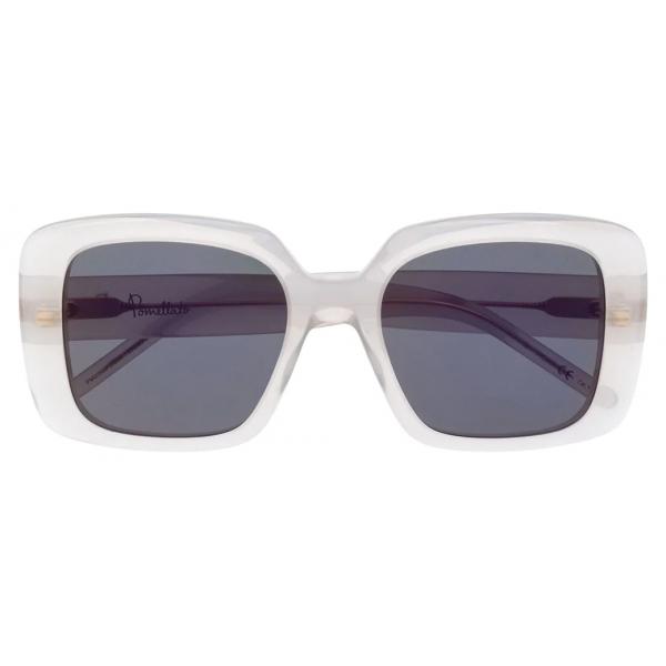 Pomellato - Oversize Frame Sunglasses - White Silver - Pomellato Eyewear