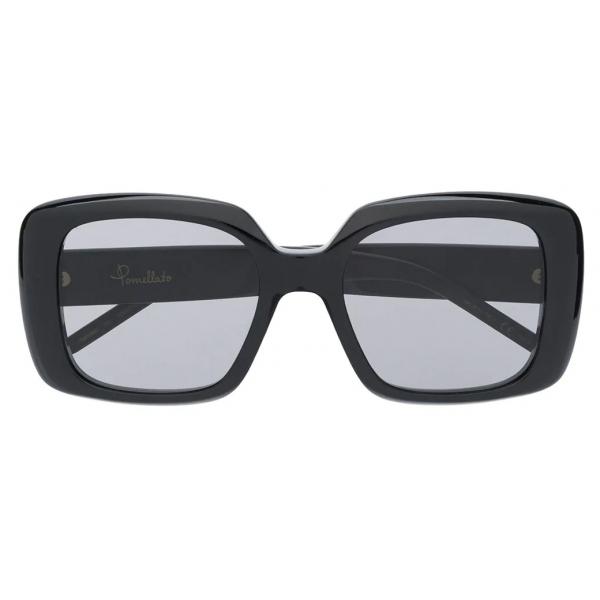 Pomellato - Oversize Frame Sunglasses - Black - Pomellato Eyewear