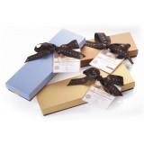 Vincente Delicacies - Torrone Morbido alla Mandorla Sicilia Ricoperto di Puro Cioccolato al Latte - Scatola Fiocco