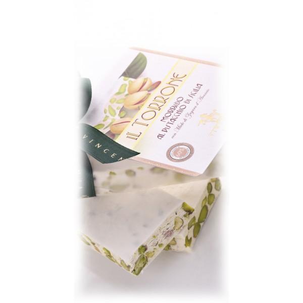 Vincente Delicacies - Torrone Morbido al Pistacchio Sicilia - Opal Fiocco - 400 g