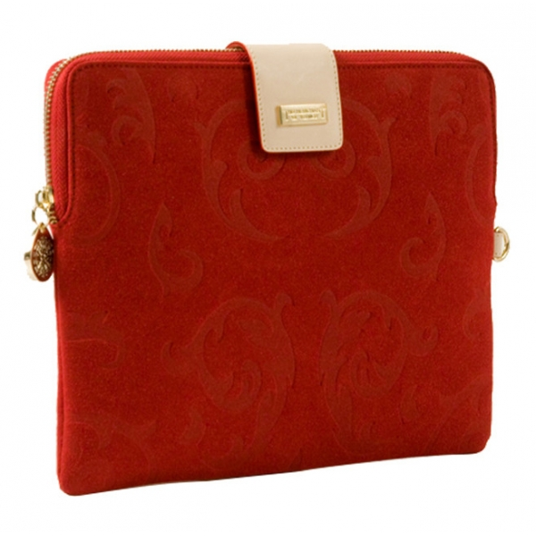 The Merchant of Venice - Leather Tablet Case - Red Gold - Fashion Collection - Luxury Venetian Bag
