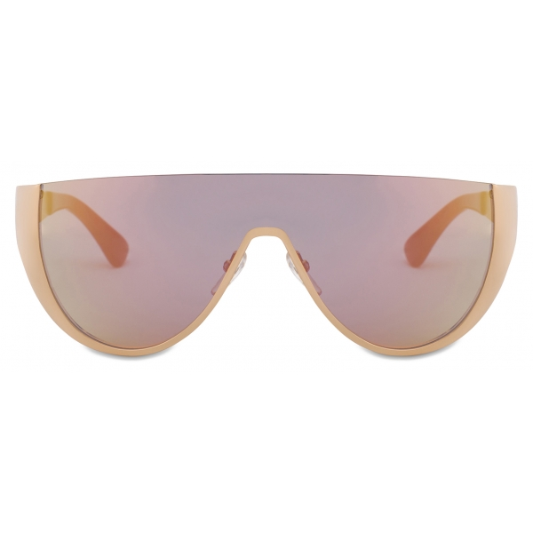 Moschino - Logo Mask Sunglasses - Gold Pink - Moschino Eyewear