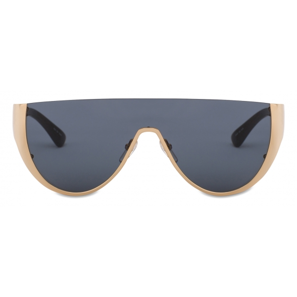 Moschino - Logo Mask Sunglasses - Gold Grey - Moschino Eyewear