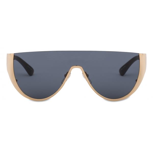 Moschino - Occhiali da Sole con Maschera Logo - Oro Grigio - Moschino Eyewear
