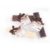 Vincente Delicacies - Torrone Morbido alla Mandorla Sicilia Ricoperto di Puro Cioccolato al Latte - Opal Fiocco