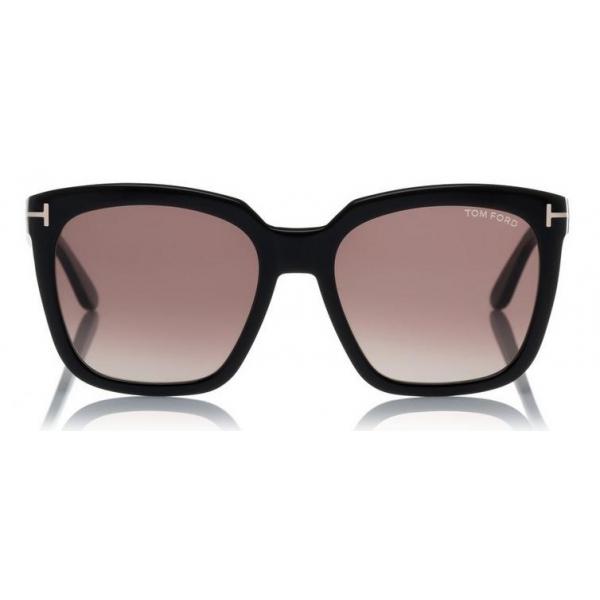 Tom Ford Amarra Sunglasses Squared Acetate Sunglasses Black Ft0502 Sunglasses Tom Ford Eyewear Avvenice