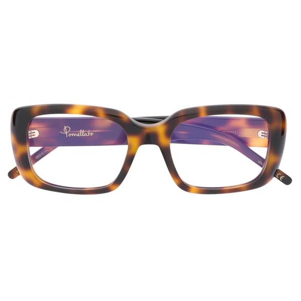 Pomellato - Square Glasses - Dark Havana  - Pomellato Eyewear