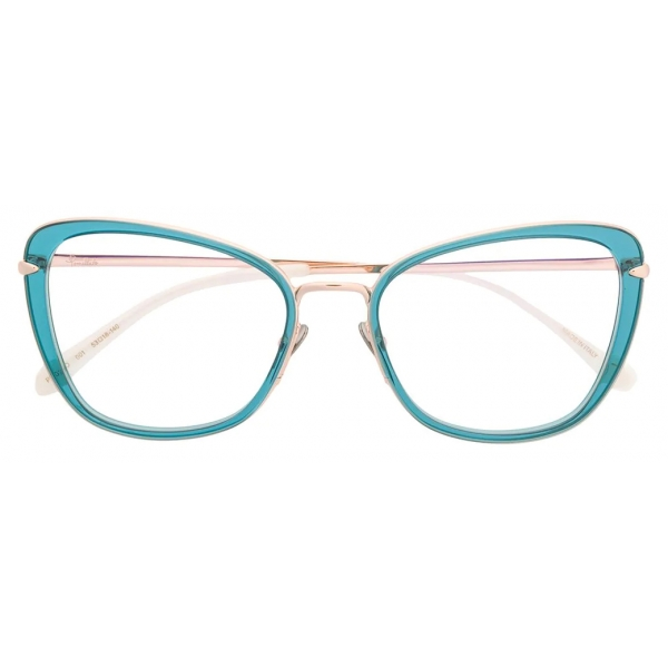 Pomellato - Butterfly Optical Glasses - Blue Gold - Pomellato Eyewear