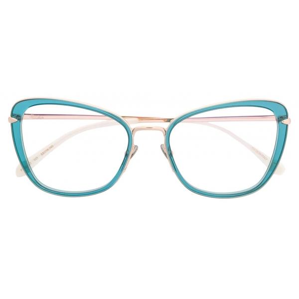 Pomellato - Occhiali da Vista a Farfalla - Blu Oro - Pomellato Eyewear