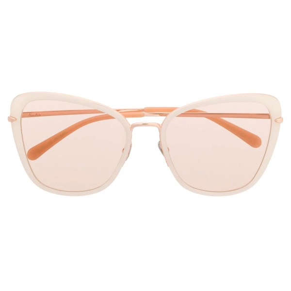 Pomellato - Occhiali da Sole a Farfalla - Avorio Oro - Pomellato Eyewear