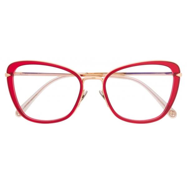 Pomellato - Occhiali da Vista a Farfalla - Rosso Oro - Pomellato Eyewear