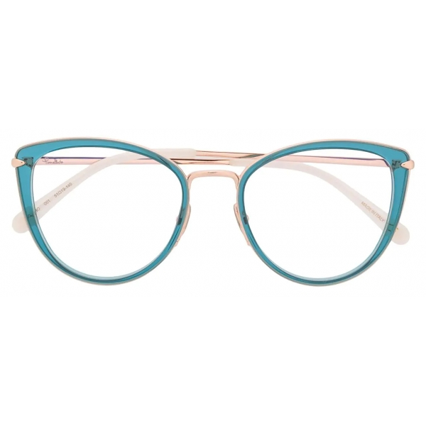 Pomellato - Occhiali da Vista Cat-Eye - Blu Oro - Pomellato Eyewear