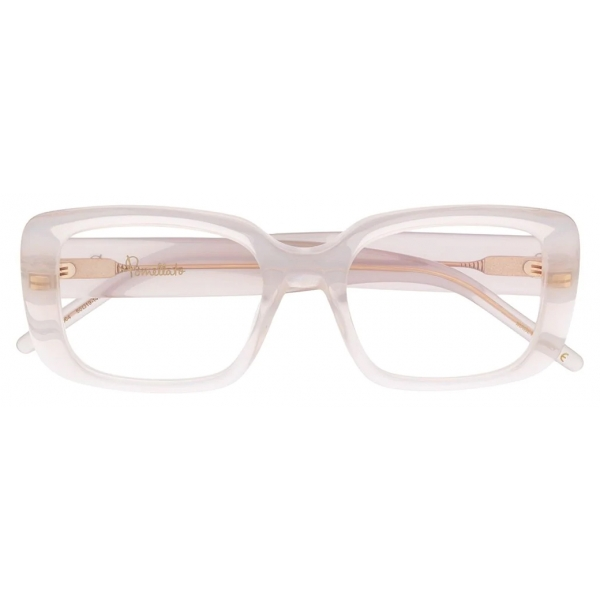 Pomellato - Rectangular Glasses - White Transparent - Pomellato Eyewear
