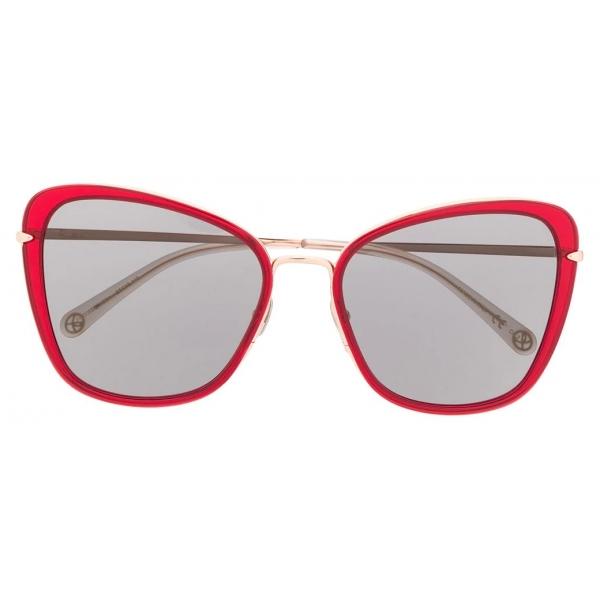 Pomellato - Occhiali da Sole Cat-Eye - Rosso Nero - Pomellato Eyewear