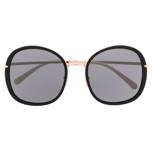 Pomellato - Oversized Round Sunglasses - Black - Pomellato Eyewear