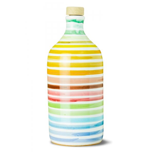 Frantoio Muraglia - Orcio in Ceramica Arcobaleno - Fruttato Intenso - Collection - Olio Extravergine di Oliva Italiano - Qualità