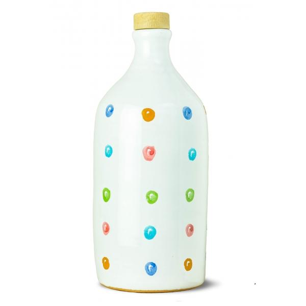 Frantoio Muraglia - Orcio in Ceramica Pois - Fruttato Intenso - Collection - Olio Extravergine di Oliva Italiano - Alta Qualità