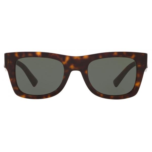 Valentino - Occhiale da Sole Squadrato in Acetato VLTN - Marrone - Valentino Eyewear