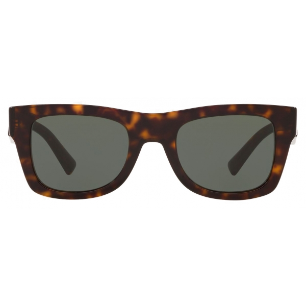Valentino - Square Frame Acetate Sunglasses VLTN - Brown - Valentino Eyewear