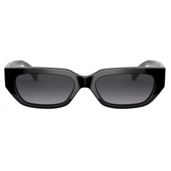 Valentino - Occhiale da Sole Squadrato in Acetato VLOGO - Nero - Valentino Eyewear