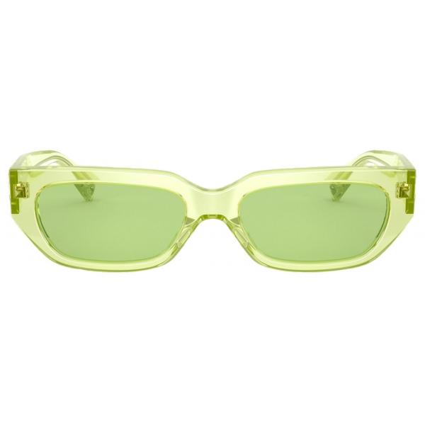 Valentino - Square Frame Acetate Sunglasses VLOGO - Green - Valentino Eyewear