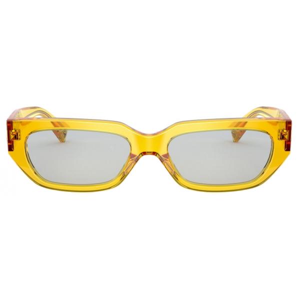 Valentino - Occhiale da Sole Squadrato in Acetato VLOGO - Giallo - Valentino Eyewear