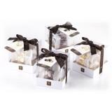Vincente Delicacies - Cubetti di Torrone Morbido alla Mandorla di Sicilia Ricoperti di Puro Cioccolato al Latte - Baroque