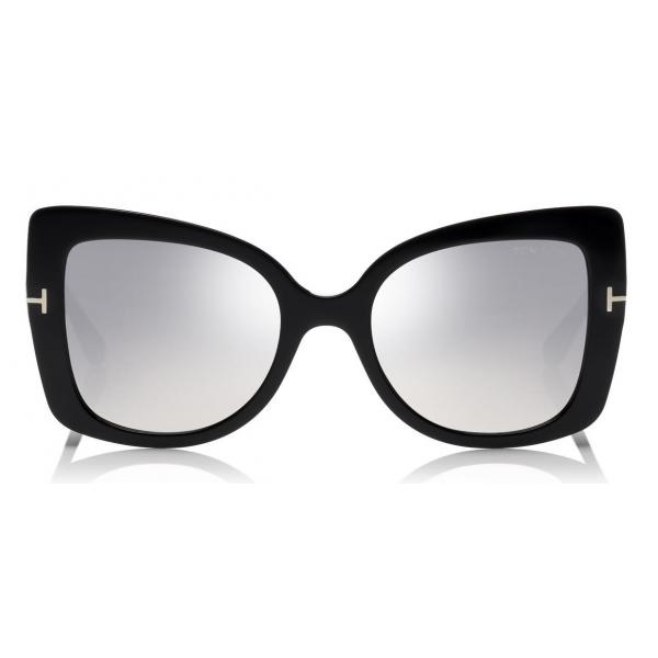 Tom Ford - Gianna Sunglasses - Occhiali da Sole in Acetato a Farfalla - Nero - FT0609 - Occhiali da Sole - Tom Ford Eyewear