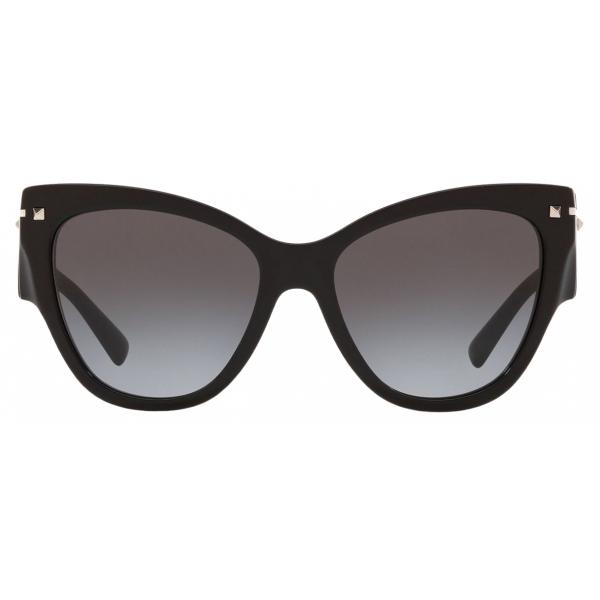 Valentino - Cat-Eye Frame Acetate Sunglasses - Black - Valentino Eyewear